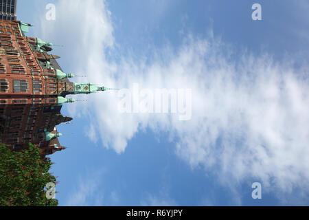 Speicherstadtrathaus à Hambourg Photo Stock
