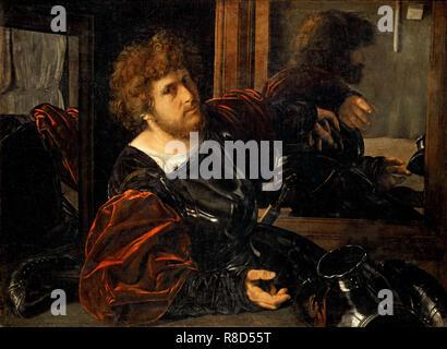 Autoportrait, c1525. On trouve dans la collection de mus&#xe9;e du Louvre, Paris. Photo Stock
