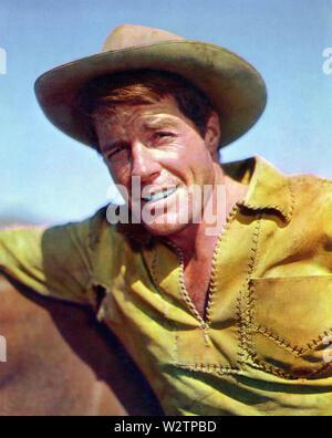 WAGON TRAIN série NBC TV 1957 avec Robert Horton Photo Stock