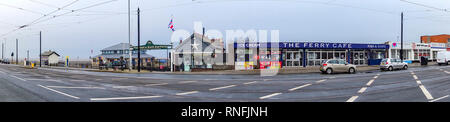 Le Terminal de Ferry de Fleetwood en hiver Photo Stock