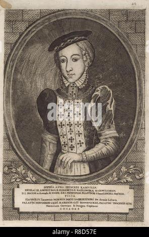 Zofia Radziwill (Monwid). À partir de: Icones Familiae Ducalis Radivilianae, 1758. Collection privée. Photo Stock