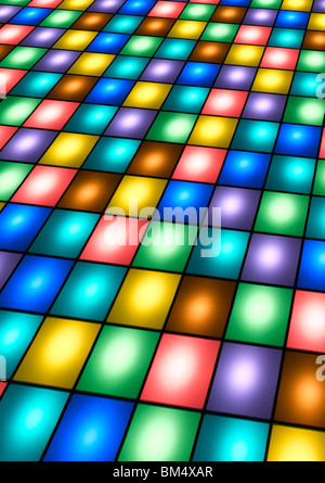 Une piste de danse disco Photo Stock