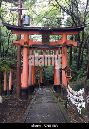 Tori Gate à Kyoto, Japon Photo Stock