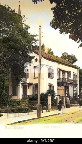 Villas en Saxe, 1904, Vogtlandkreis, Bad Elster, Villa Bechler, Allemagne Photo Stock