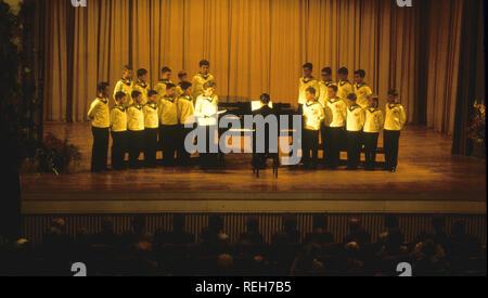 Choeur de garçons de Vienne dans les années 1980 Photo Stock