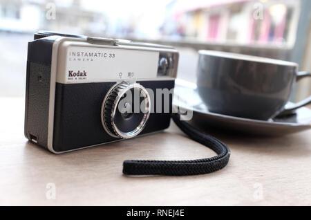Kodak Instamatic 33 style retro camera Photo Stock