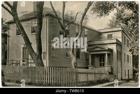 Historique du bâtiment (anciennement une réunion Quaker House), Fair Street, NANTUCKET, Massachusetts, USA. Date: vers 1906 Photo Stock