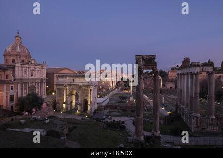 Forum romain, Rome, Latium, Italie Photo Stock