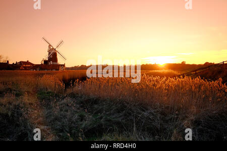 Le CLAJ mill, claj-next-the-Sea, North Norfolk, Angleterre Photo Stock