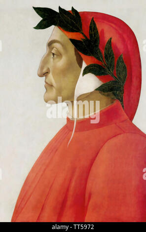 DANTE ALIGHIERI (1265-1321) poète florentin c Photo Stock