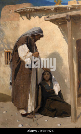 Jésus le Christ avec Marie de Magdala. Collection privée. Photo Stock