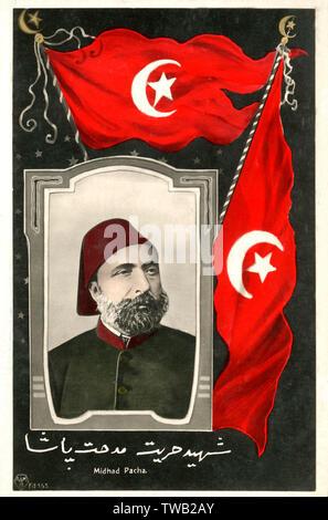 Midhad Pacha (1822-1883) - Grand Vizir de l'Empire ottoman entre juillet et octobre 1872. S'est brouillé avec le Sultan plus de problèmes d'argent et a été rejeté. Grand Vizir pour s deuxième fois entre 1876 et 1877. Date: vers le milieu des années 1870 Photo Stock