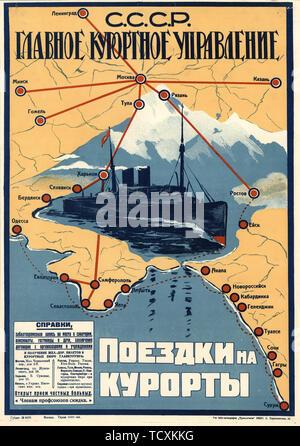Les stations à la mer Noire , 1930. Collection privée. Photo Stock