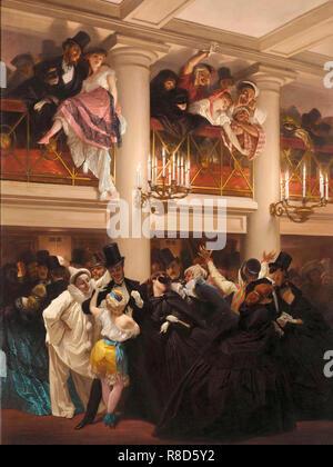Le bal de l'Op&#xe9;ra (bal à l'opéra), 1866. On trouve dans la collection de mus&#xe9;e Carnavalet, Paris. Photo Stock