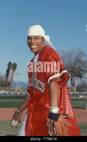 NELLY et auteur-compositeur américain singere en janvier 2001. Photo: Jeffrey Mayer Photo Stock