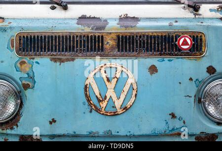 Style Rat 1970 VW Volkswagen écran partagé avant de camping-car Photo Stock