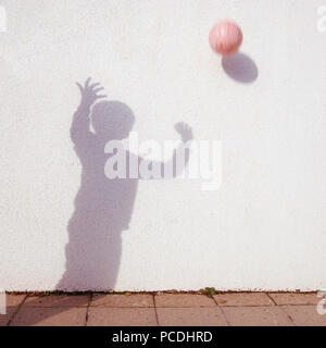 Silhouette,ball, jeu de boule Photo Stock