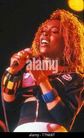La princesse (Desiree Heslop) chanteuse pop anglaise sur 1984 Photo Stock