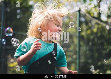 Plaisir de bulle Photo Stock