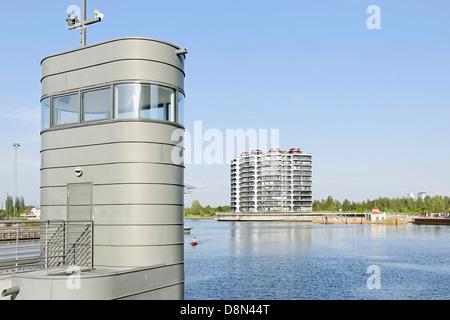 L'architecture moderne, Sluseholmen, Copenhague, Danemark, Europe Photo Stock