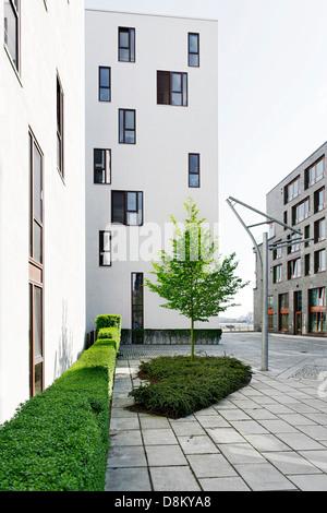 L'architecture moderne, Kaiserkai, Hambourg Photo Stock