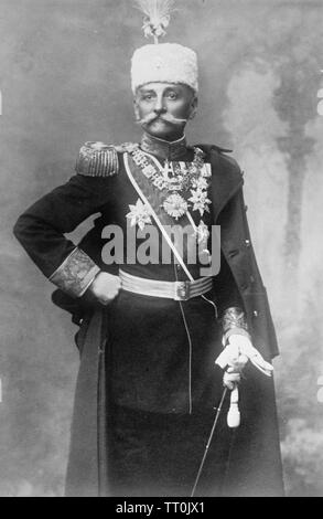Le roi Pierre 1er de Serbie (1844-1921) Photo Stock