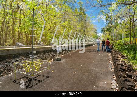 L'Ile Maurice, Flacq district, Poste Lafayette, Bras d'eau Parc National, radiotélescope Photo Stock