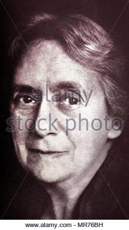 Henrietta Szold (1860 - 1945); American, Juif, leader sioniste. fondateur de Hadassah, le Women's Zionist Organisation of America. En 1942, elle co-fonde Ihud, un parti politique en Palestine mandataire dédié à l'unité arabo et une solution binationale. Photo Stock