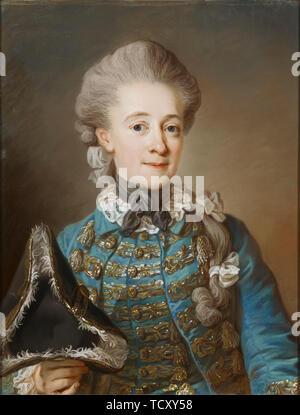 Portrait de la Baronne Ulrica Fredrika Cedercreutz (1730-1784), ca 1770. On trouve dans la collection de Sinebrychoffin Taidemuseo, Helsinki. Photo Stock