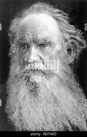 Léon Tolstoï (1828-1910) romancier russe Photo Stock