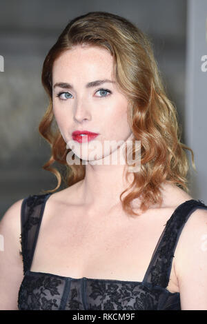 Londres, Royaume-Uni. 10 fév, 2019. Londres, Royaume-Uni. 10 février 2019 : Freya Mavor arrivant pour le BAFTA Film Awards 2019 au Royal Albert Hall, Londo. Photo : Steve Sav/Featureflash Crédit : Paul Smith/Alamy Live News Photo Stock