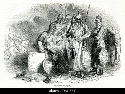 (Palaiyakkarars Polygars, chefs militaires) de Tinnevelly (Tirunelveli), le Tamil Nadu (Madras), dans le sud de l'Inde. Date: 1842 Photo Stock