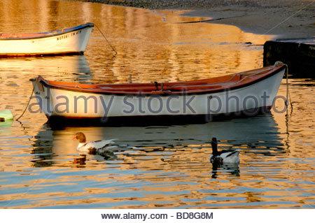 Un port de Mykonos, Grèce Photo Stock