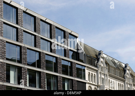 L'architecture moderne, Valentinskamp, Hambourg, Allemagne Photo Stock