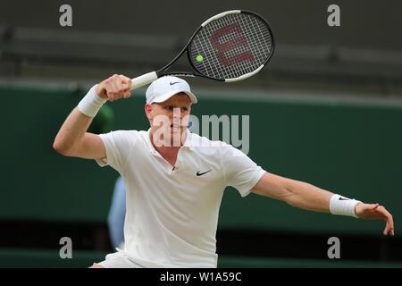 Londres, Royaume-Uni. 1er juillet 2019. Kyle Edmund, Grande-Bretagne, 2019 Allstar Crédit: photo library/Alamy Live News Photo Stock