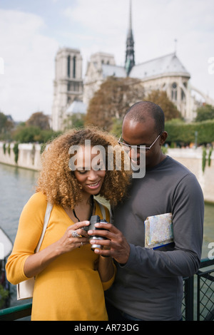 African couple looking at camera Photo Stock