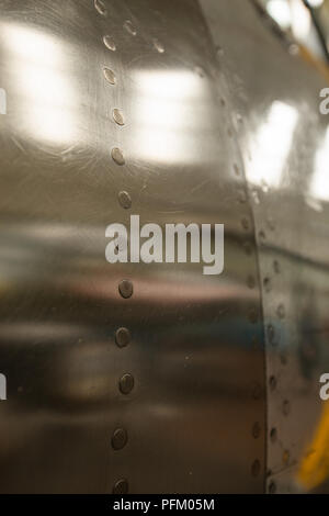 Close up of aircraft aluminium corps Photo Stock