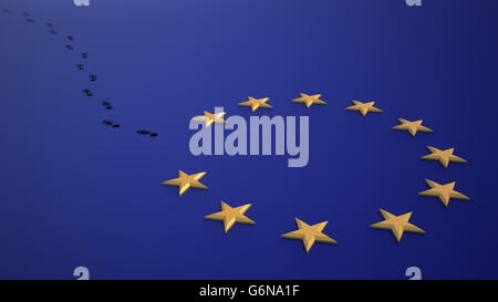Brexit - référendum britannique de quitter l'UE. Photo Stock