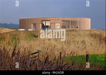 Installation de l'affût, holkham estate, North Norfolk, Angleterre Photo Stock