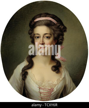 Portrait de la comtesse Maria Eleonora Lewenhaupt, n&#xe9;e Koskull (1765-1823). On trouve dans la collection de Sinebrychoffin Taidemuseo, Helsinki. Photo Stock