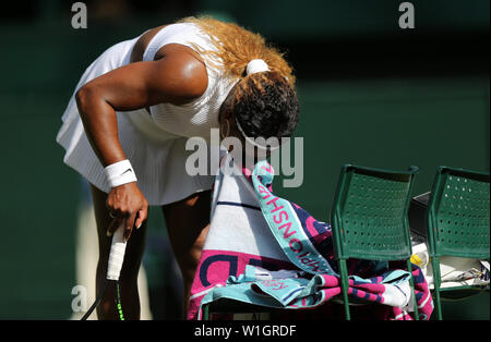 Serena Williams Wimbledon 2019 Photo Stock