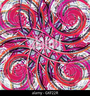 Abstract colorful background. Modèle de conception moderne. Rouge, jaune, rose, violet, ligne lumineuse Photo Stock
