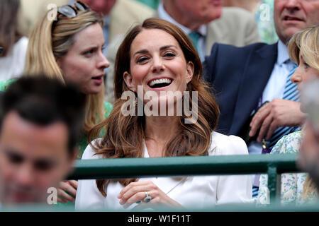La duchesse de Cambridge 2019 Wimbledon Photo Stock