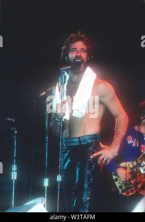 Nous CHICAGHO rock group à propos de 1976 à Los Angeles, Californie. Photo: Jeffrey Mayer Photo Stock