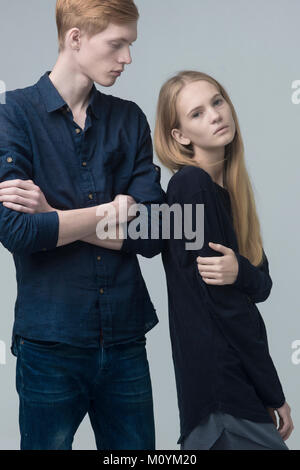Portrait of serious Caucasian couple Photo Stock