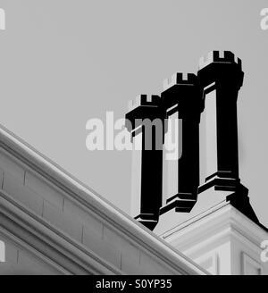 Grand et élégant chimneys Photo Stock