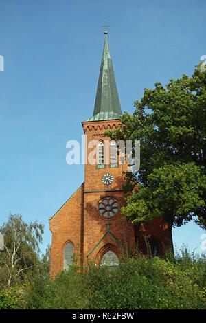 Église du village klein wesenberg Photo Stock