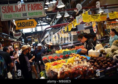 Marché alimentaire de Granville Island, Vancouver, Canada Photo Stock