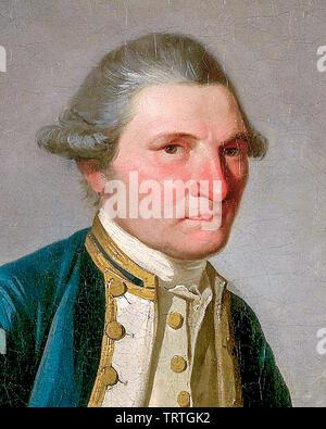 Le capitaine James Cook (1728-1779), portrait, vers 1780 Photo Stock