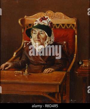 Portrait de Yekaterina Alexandrovna Arkharova, n&#xe9;e Rimskaya-Korsakova (1755-1836), années 1830. On trouve dans la collection de musée d'état de A.S. Pouchkine, Moscou. Photo Stock